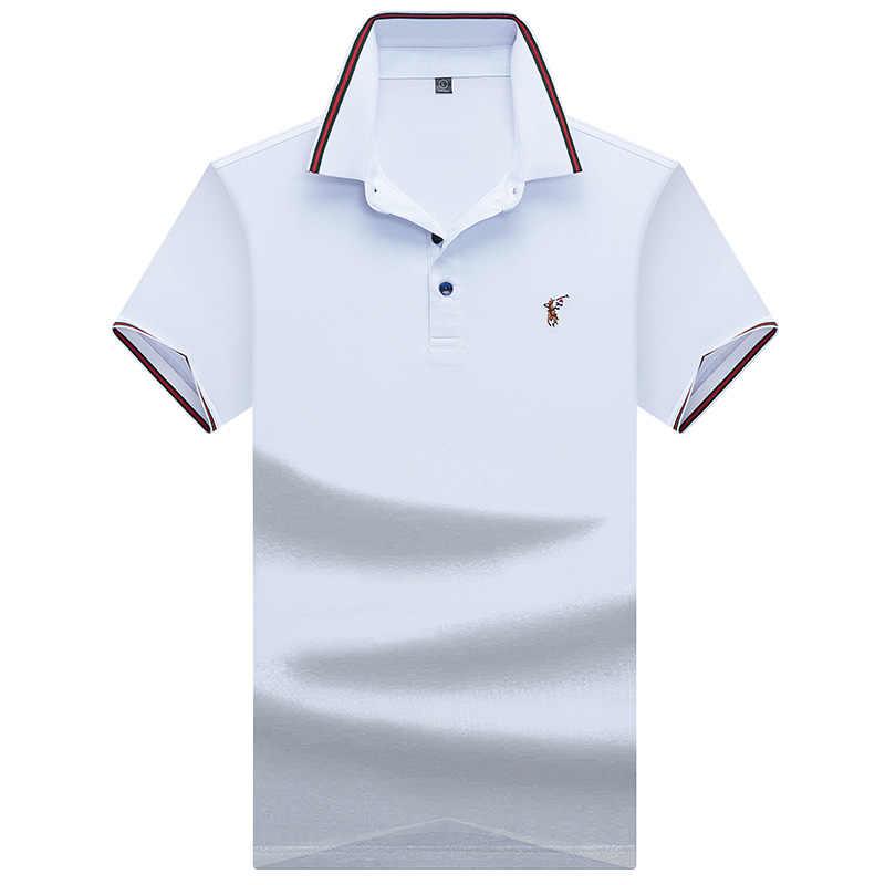 高品質トップス & Tシャツメンズポロシャツビジネス男性ブランドポロシャツ 3D 刺繍ターンダウン襟メンズポロシャツ 9003