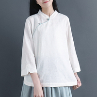 2019 summer arrivals mandarin collar blouses traditional chinese clothing elegant ladies retro style tops