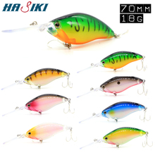 HASIKI Crankbait Fishing Lures 70mm 18g  Long Tongue Hard Bait Artificial Crank With High Quality Treble Hook