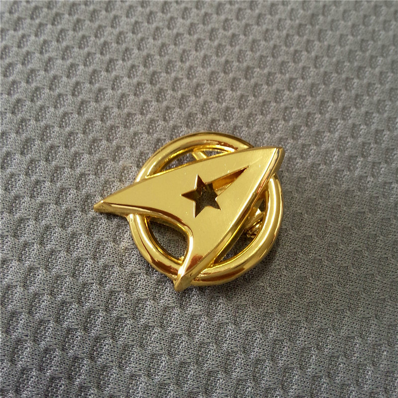 Star Pin Badge The Next Generation Screen Accurate Communicator Insignia Gold Pin Badge Brooch