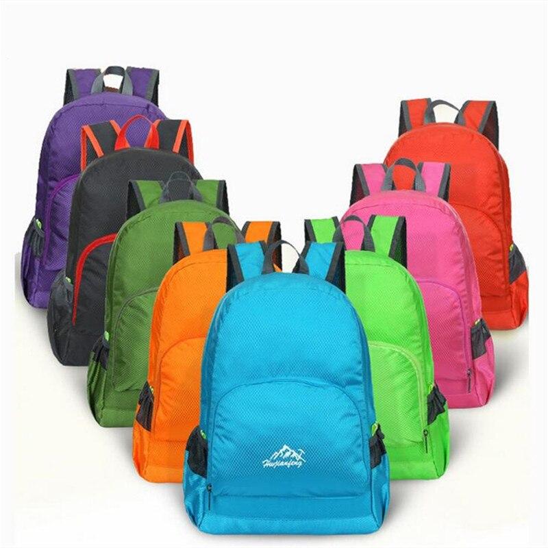 Men Women Nylon Waterproof Ultra Light Backpack Outdoor Cycling Rucksack Sports Folding Travel Packs Mochila Student