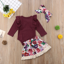 Newborn Baby Girls Clothes Sets 3PCS
