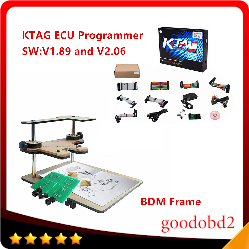 K-TAG KTAG ECU Programming Tool KTAG Master ECU Programmer Chip 6 Languages +BDM FRAME Full Adapter For FGTECH BDM100 Kess new version v2 13 ktag k tag firmware v6 070 ecu programming tool with unlimited token scanner for car diagnosis