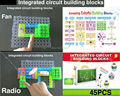 120 ProjectsDIY Kits Integrated circuit building blocks snap circuit kit FM Radio experiments kids model kits Science kids toys