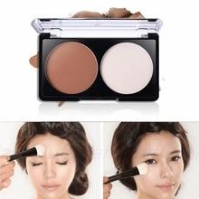 2 colorea Contour Shading polvo de cara del maquillaje paleta corrector Nude fundación