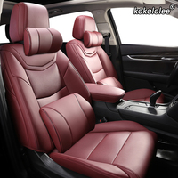 kokololee Custom Leather car seat covers For SKODA Yeti KODIAQ Octavia Superb Fabia Rapid KAROQ KAMIQ Automobiles Seat Covers