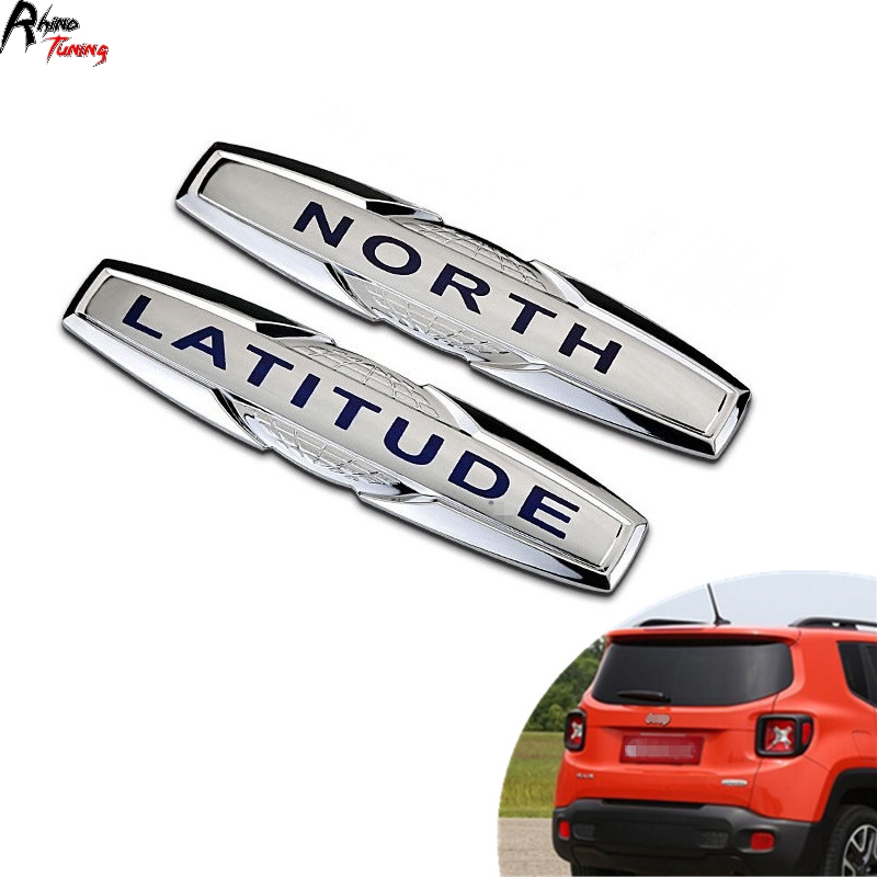Rhino Tuning North Car Emblem Latitude Auto Styling Badge ABS Sticker For Jeep Renegade Compass Rear Trunk Emblem 20374 special car trunk mats for toyota all models corolla camry rav4 auris prius yalis avensis 2014 accessories car styling auto