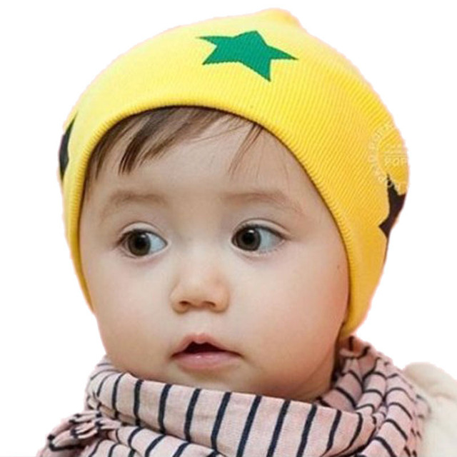 wholesale fashion baby hats infant caps baby cap with star headdress head  skull cap beanie cotton dd31534a5c0