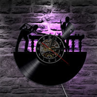 Billiard LED Wall Clock Modern Design Classic CD Clocks 7 Different Colors Vinyl Record Wall Watch with Backlight Home Decor