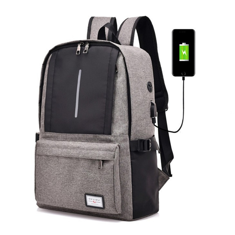 New male bag nylon backpack USB charging men and women leisure travel bag business computer anti-thief backpack student bagNew male bag nylon backpack USB charging men and women leisure travel bag business computer anti-thief backpack student bag