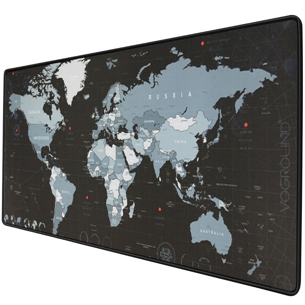 f40724b503e Large Gaming Mouse Pad Computer Gamer Mousepad Big Mause Pad Rubber Surface  World Map Mouse Mat Desk Keyboard xxl Mouse Pad Game