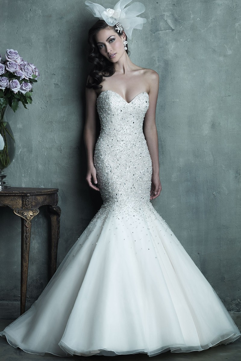 Coutry Western Mermaid Bling Corset wedding Dresses Open Back Top ...