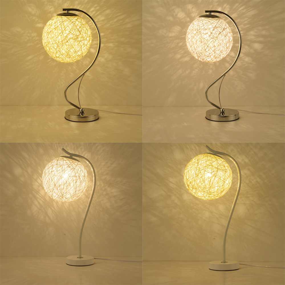 Table lamp LED switch button touch lamp 110-220v warm grass rattan table lights E27 contemporary green table lamps luminarias read room led lamp e27 table lamps study mini touch switch 110 220v contemporary green cloth desk lights luminaria