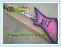 Wholesale & Retail Sun Flames Inlay Vintage Purple Guitar Ken Lawrence Suneye Explorer Electric Guitar & Kits Available