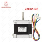 1pcs 23HS5628 4 lead Nema 23 Stepper Motor 57 motor 165 Oz in 56mm 2.8A 6.35mm/8mm diame CNC Laser Grind Foam Plasma Cut