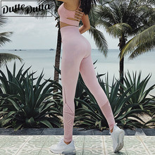 High Waist Yoga Pants Women Athletic Sport Leggings Hollow Out Legency Seamless Tummy Control Leggins Sport Pants for Fitness