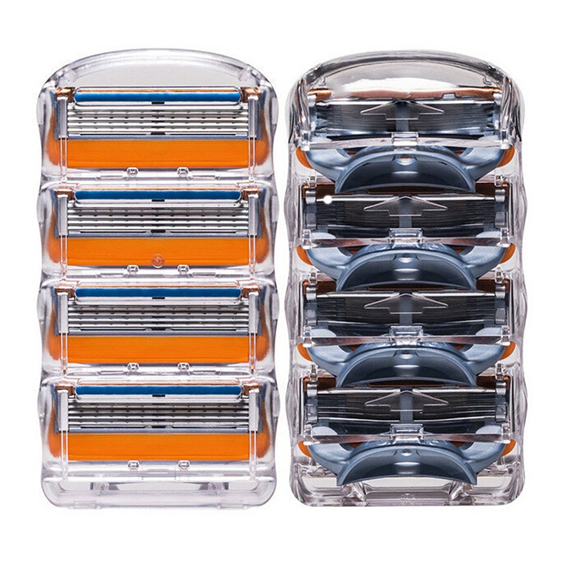 High Quality 8Pcs Men Standard for RU Euro US Blade Fusione Power 5 GFLV shaving razor