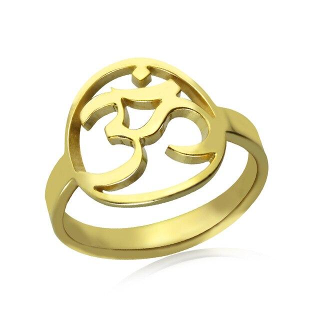 Namaste Yoga Gold Color Om Ring Yoga Ring Yoga Jewelry Bring You