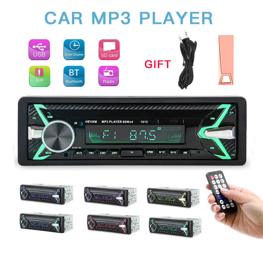 Autoradio USB บลูทูธออโต้สเตอริโอ 1 Din Car Radio cassette recorder 12v FM Aux Receiver Car Audio SD MP3 cassette ลำโพง