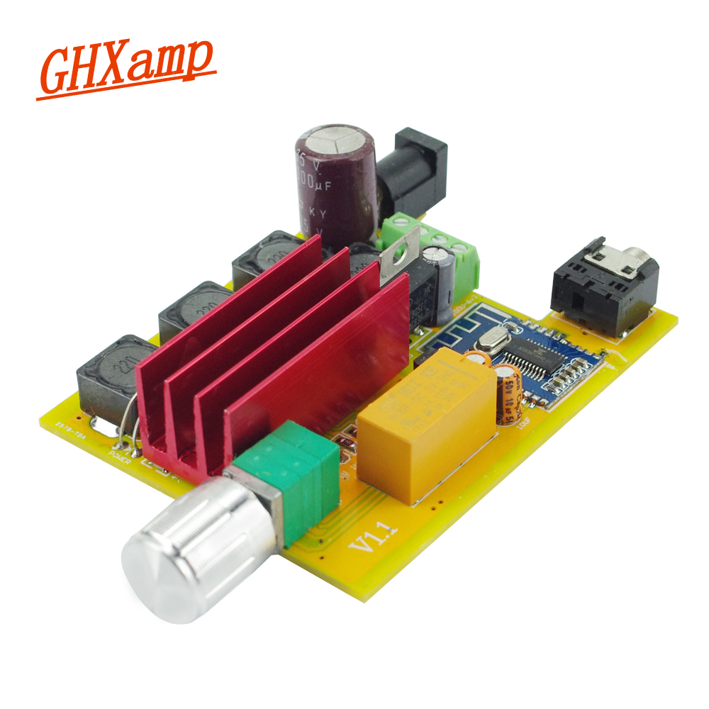 цены на Ghxamp Bluetooth Amplifier TPA3116 50W*2 HIFI Digital Power Amplifier Board For Bluetooth Speaker High Power DIY AUX 2018 NEW в интернет-магазинах