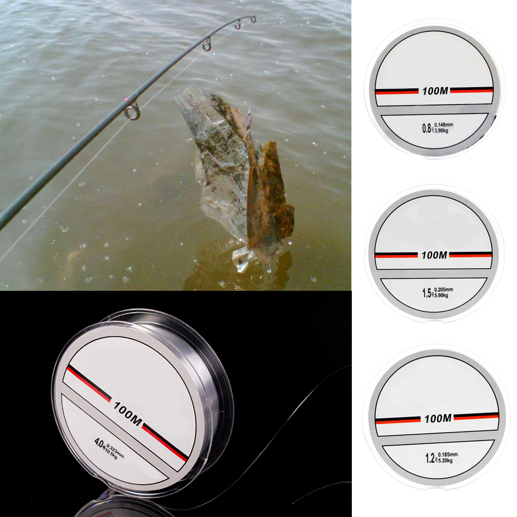 New super strong 100m nylon transparent or fluorocarbon for Fluorocarbon fishing line
