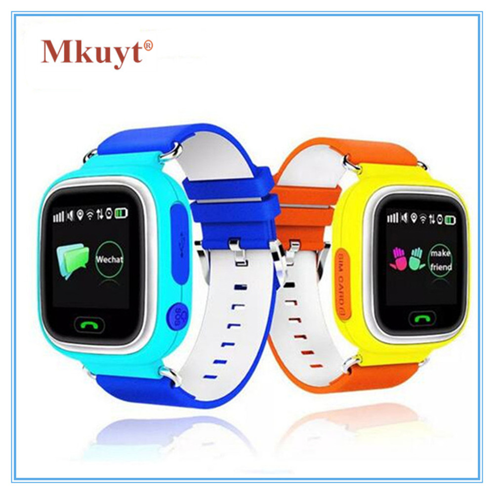 MKUYT Q90 Smart Watch SOS Call Location Finder Locator GPS WIFI Phone Positioning for Kid Safe Anti Lost Monitor PK Q50 Q60 Q80