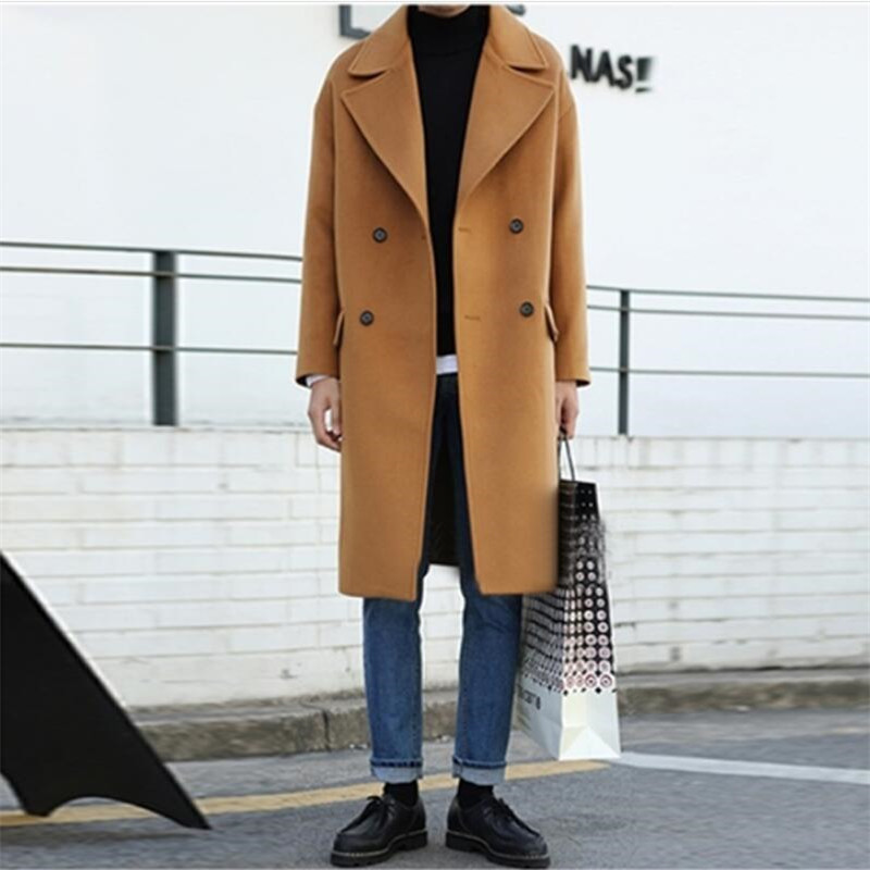 2019 New Men Autumn Winter Trench Coat Men Casual Jacket Pluse Size Loose Fashion Brand Clothing Men'S Jackets For Male  T0053