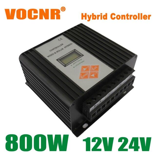 800W 12V/24V Auto MPPT Wind Solar Hybrid Street Light Controller, Wind Turbine Controller, Solar Panel Controller