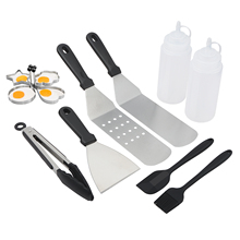 8/12Pcs Professional BBQ Grill Tools Set Stainless Steel Barbeque with Storage Bag Outdoor Accessories