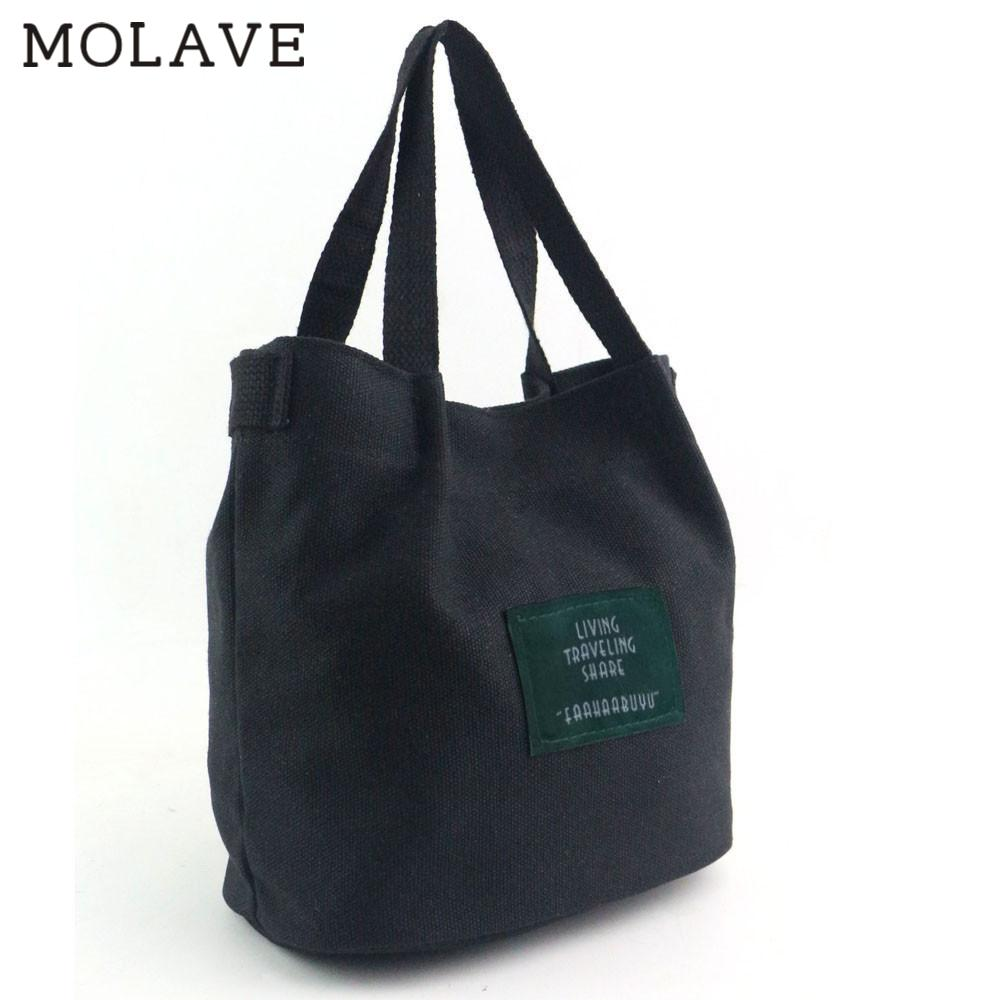 MOLAVE Handbag bag female Solid bags for women hasp Women Fashion Canvas Travel Shoulder Bag Large Tote Ladies Purse Feb26