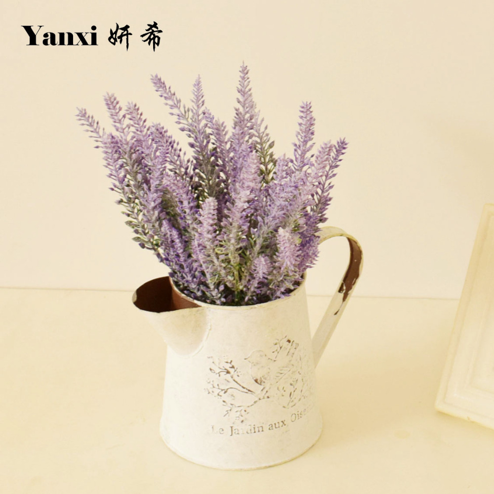 Lavenders Artificial Flowers Green Plants Garden Home Table Wedding  Decorations White Purple Yellow Plastic Fake Flower Part 57