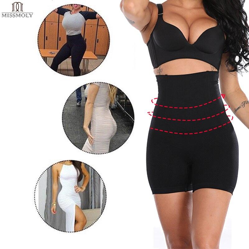 Miss Moly Waist Trainer Women Body Shaper High Waist Shapewear Tummy Control Panties Slimming Underwear Control Pants in Control Panties from Underwear Sleepwears