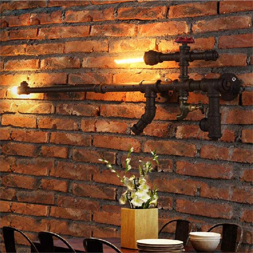 Creative Nordic Wall Lamps AK47 Gun Design Punk Iron Water