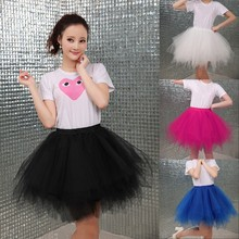 Fashion Tulle Skirt Pleated Tutu Skirts Womens Lolita Petticoat Bridesmaids Vintage Mini Skirt Jupe Saias faldas недорого