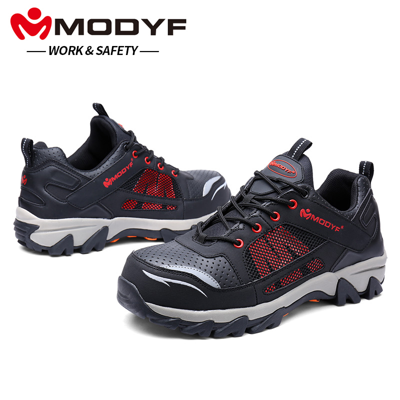 MODYF Men Steel Toe Work Safety Shoes Breathable Casual Spring Outdoor Sneaker Puncture Proof Footwear Slip Resistant цена 2017