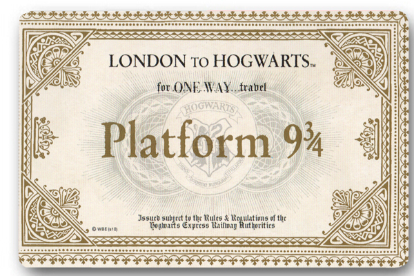 Custom 40x60cm Door Mat Cover Harry Potter Train Ticket