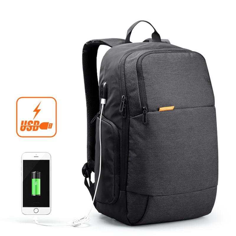 Kingsons 15.6 Inch Laptop Men Backpack Business Travel Unisex Knapsack Anti Theft With Usb Charger Waterproof Women Military Bag