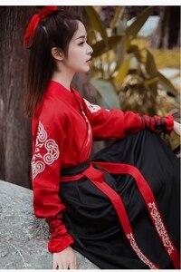 Image 4 - Kadın Ulusal Kostüm peri elbisesi Tang Hanedanı Antik Kostümleri için Sahne Çin Halk Dans elbise Klasik Hanfu Elbise