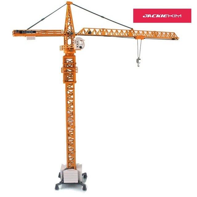 1:50 Alloy Diecast Menara Slewing Crane Truk Model Mainan Kendaraan Miniatur Mobil untuk Anak-anak Mainan Hadiah Dekorasi Koleksi