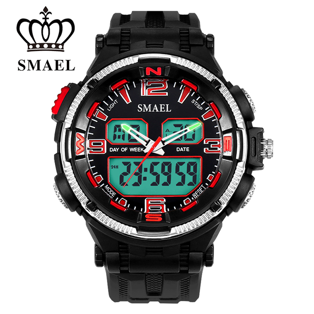 SMAEL Digital Watches LED 30M Waterproof Men's Wrist Waatch Mens watches top brand luxury Clock Men relogio masculino WS1360