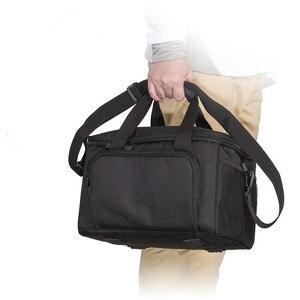 Image 5 - كبير مقاوم للماء حقيبة صيد سمك صندوق الطعم حزام الكتف جيب معدات صيد الأسماك حقيبة قماش قنب ثلاثة لون اختياري