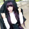 MCOSER Inu x Boku Secret Service Shirakiin Ririchiyo Purple Black 100CM Cosplay Wig