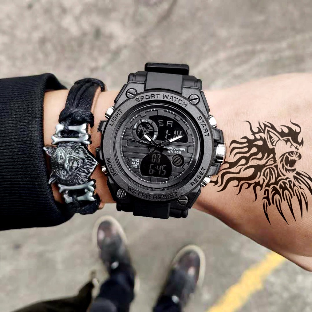 New SANDA 739 Sports Men's Watches Top Brand Luxury Military Quartz Digital Watch Men Waterproof S Shock Clock Relogio Masculino