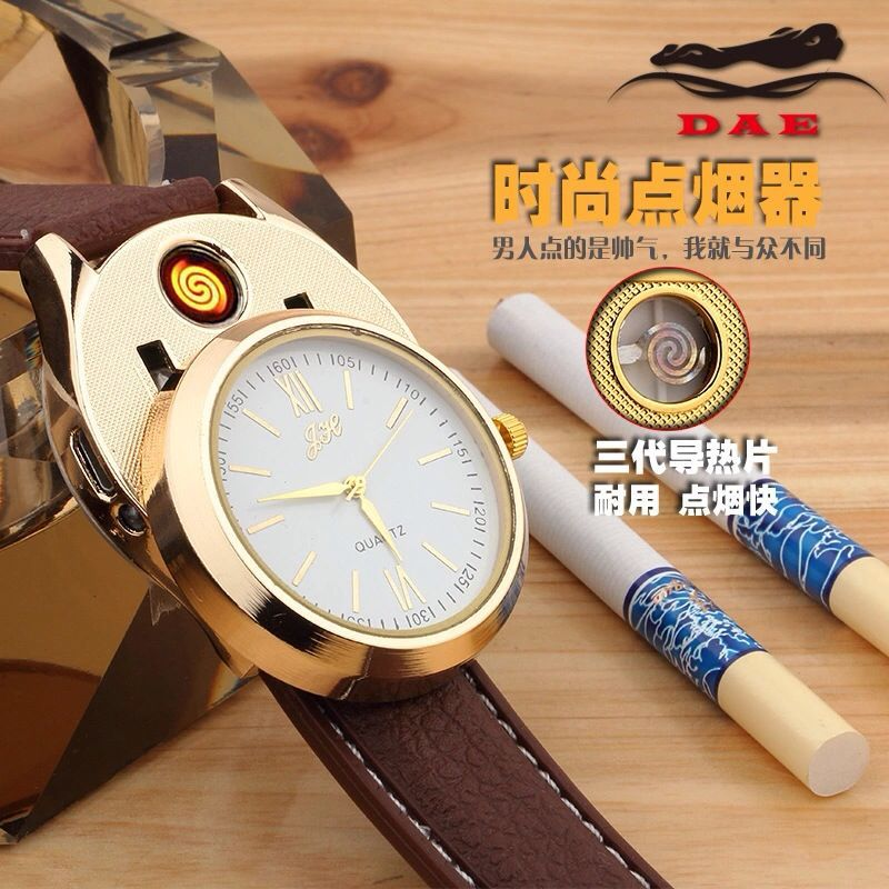 Creative Watch style USB Rechargeable Lighters Electronic Cigarette Lighter