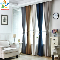 2017New High Quality Soild Color Curtain Shading Livingroom Finished Curtains