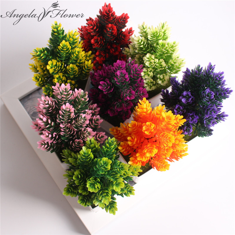unidades florero artificial plantas en maceta pequeo bonsai flor artificial de plstico flor de