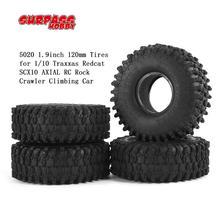 SURPASS HOBBY 4pcs 5020 1.9inch 120mm Tires Tyres for 1/10 Traxxas Redcat SCX10 AXIAL RC Rock Crawler Climbing Car