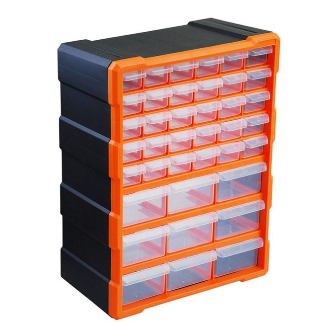 39 Multi Drawer Storage Cabinet Organiser TOPIND Plastic Parts Storage Wall  Mount Hardware Storage Cabinet For