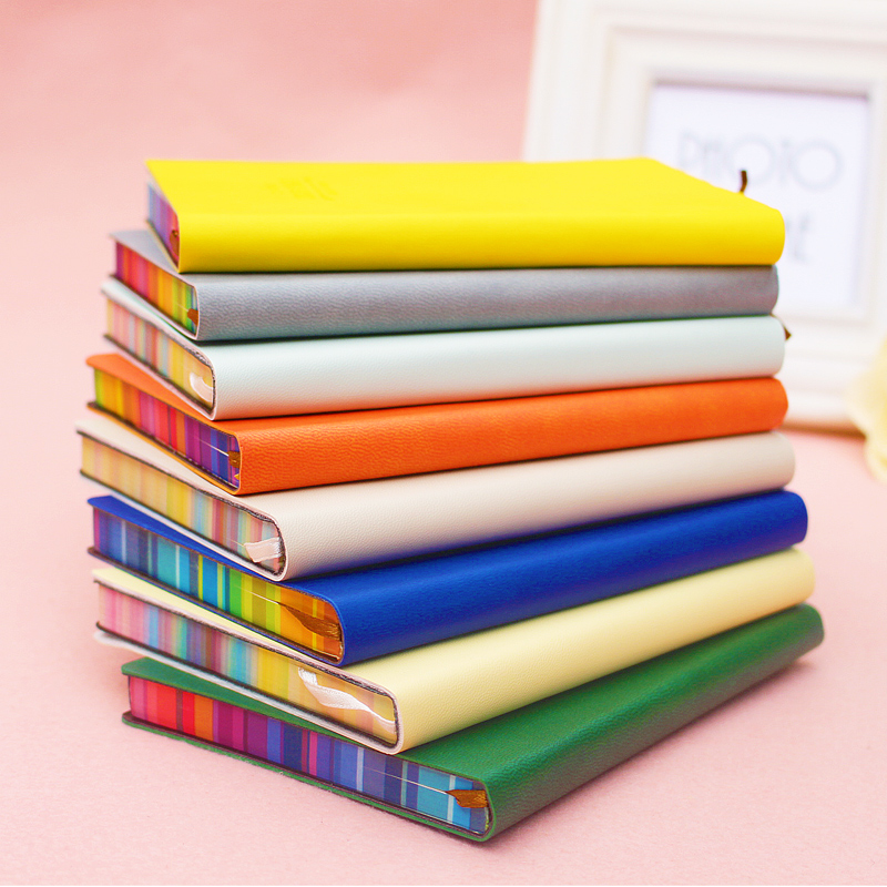 1 Pc Creative Trends Notebook Leather Cover Soft Copybook For Gift 112 Sheets 56K Diary Sketchbook Deli 3184