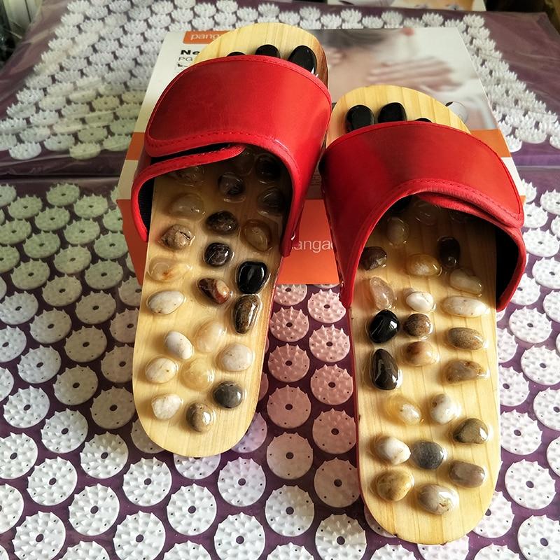 Червено здравеопазване Акупунктура Точка масажор за краката Грижа за обувки Грижа за чехли Отслабване Меридианни точки Отстранете костните шпори